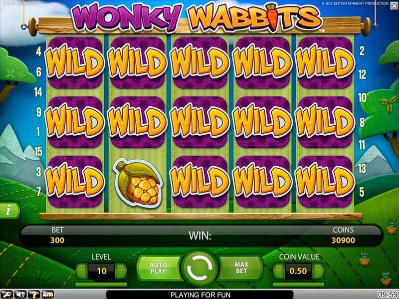 Wonky Wabbits gokkast NetEnt