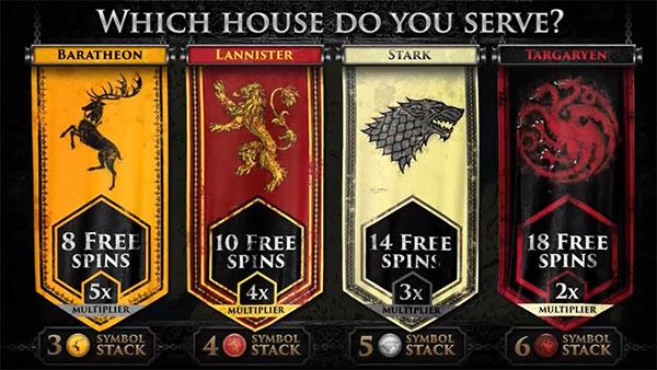 game of thrones bonusspel