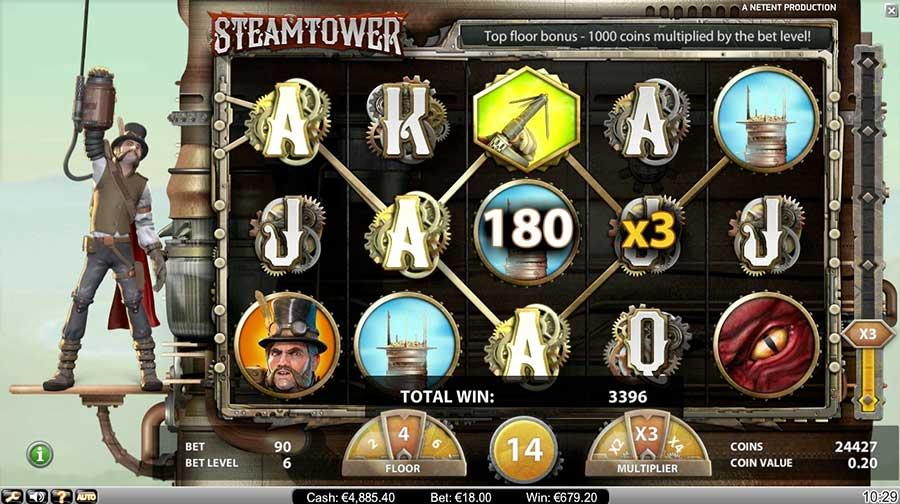 Steam Tower videoslot NetEnt