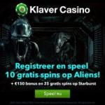 Gratis spins bij Klaver Casino
