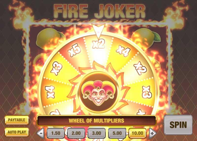 Multiplier Wheel Fire Joker