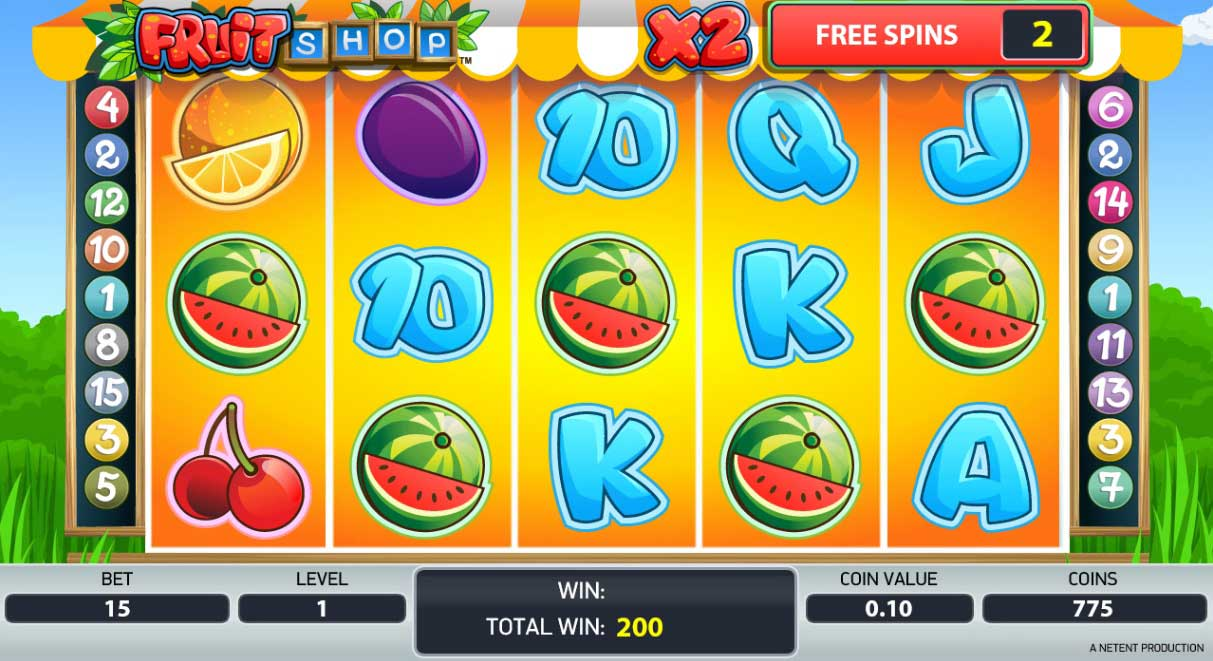 Fruit Shop free spins