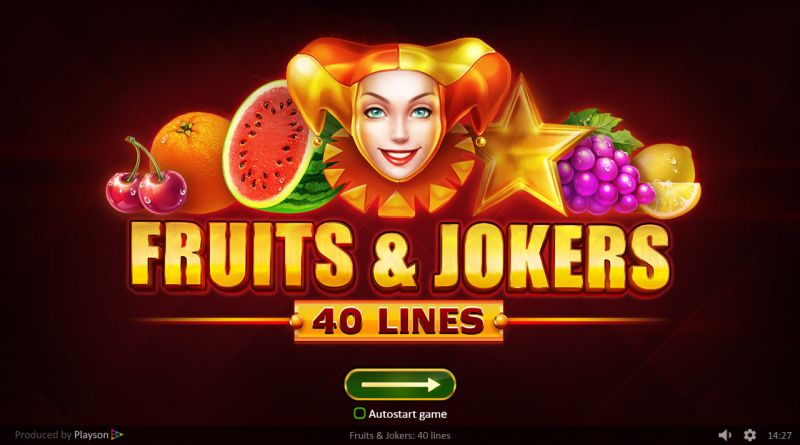Fruits and Jokers 40 Lines gokkast