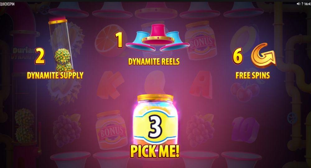 Durian Dynamite gokkast Bonus