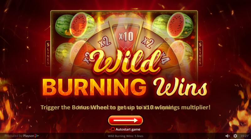 Wild Burning Wins Playson
