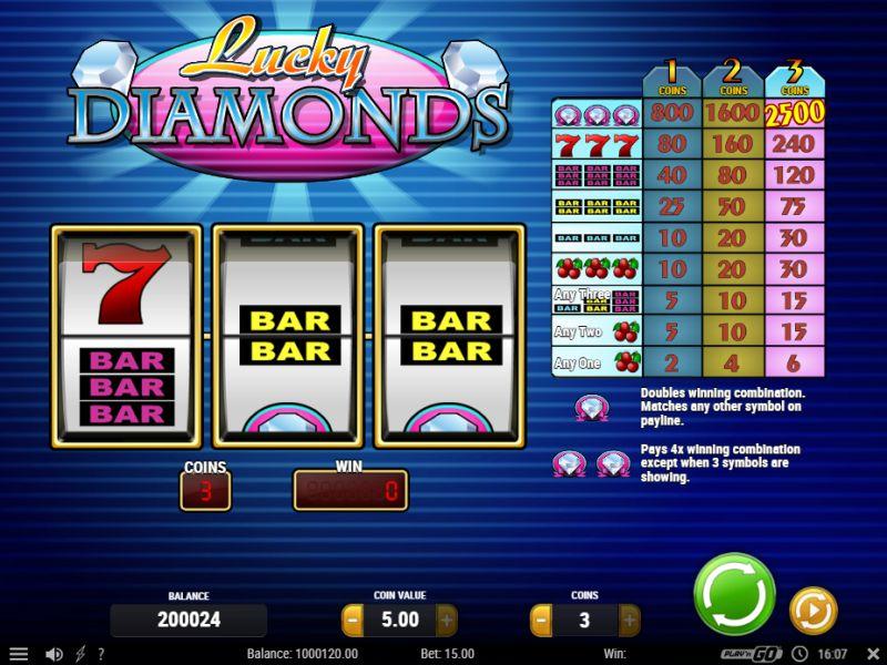 Lucky Diamonds Play 'n Go