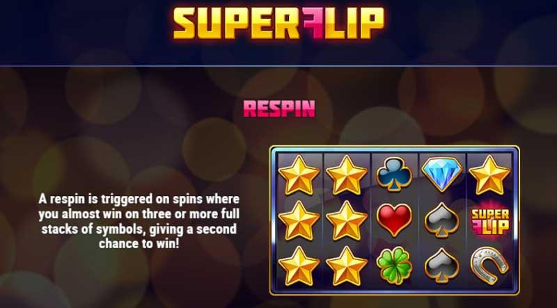 Super Flip gokkast respin