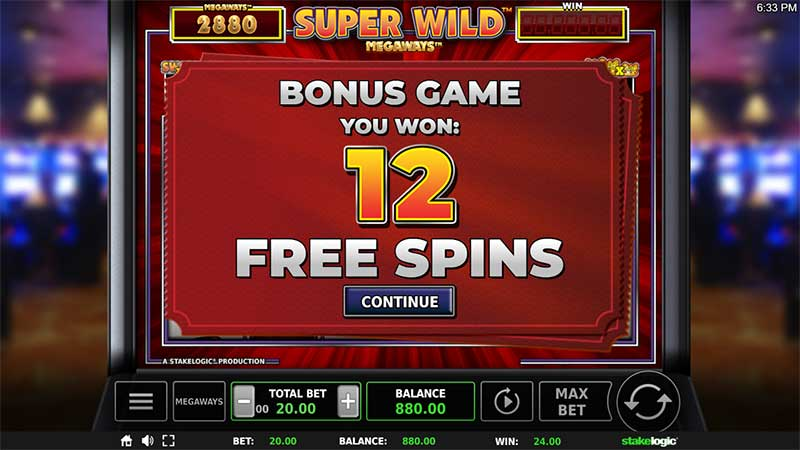 Super Wild Megaways Free Spins