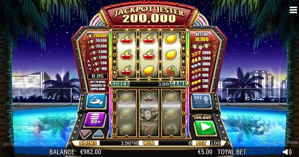 Jackpot Jester 200.000 Super Game