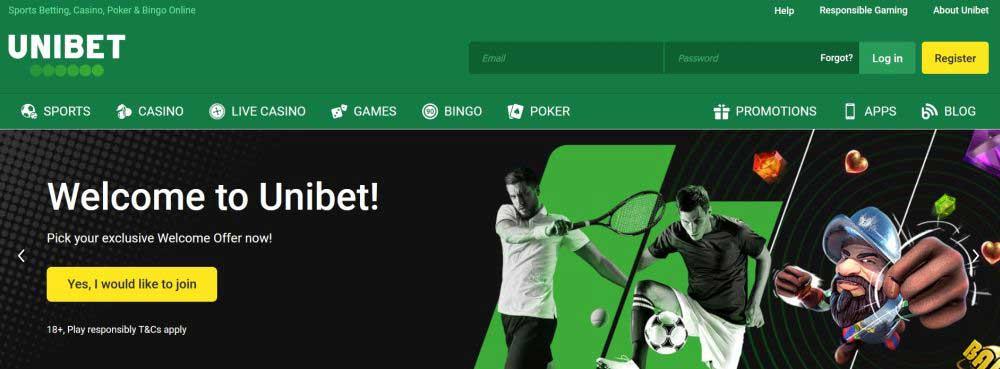 Unibet casino en wedden op sport