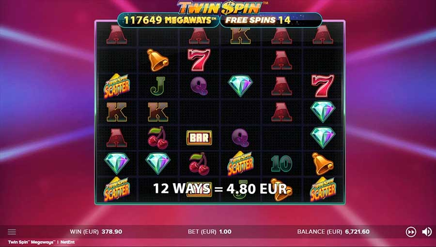 Free Spins Twin Spin Megaways