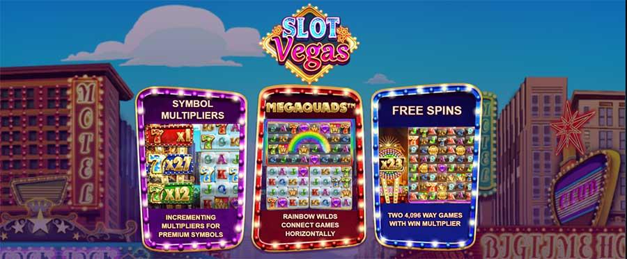 Slot Vegas MegaQuads opties