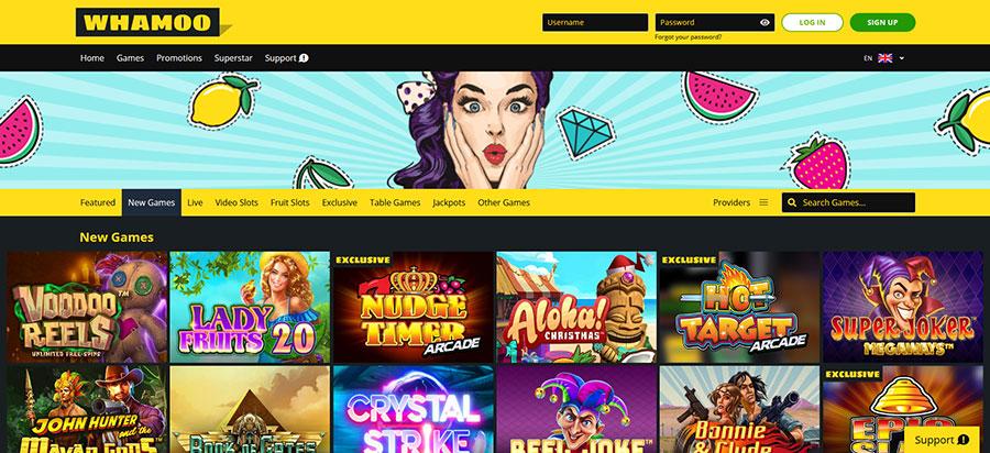 Whamoo Casino screen