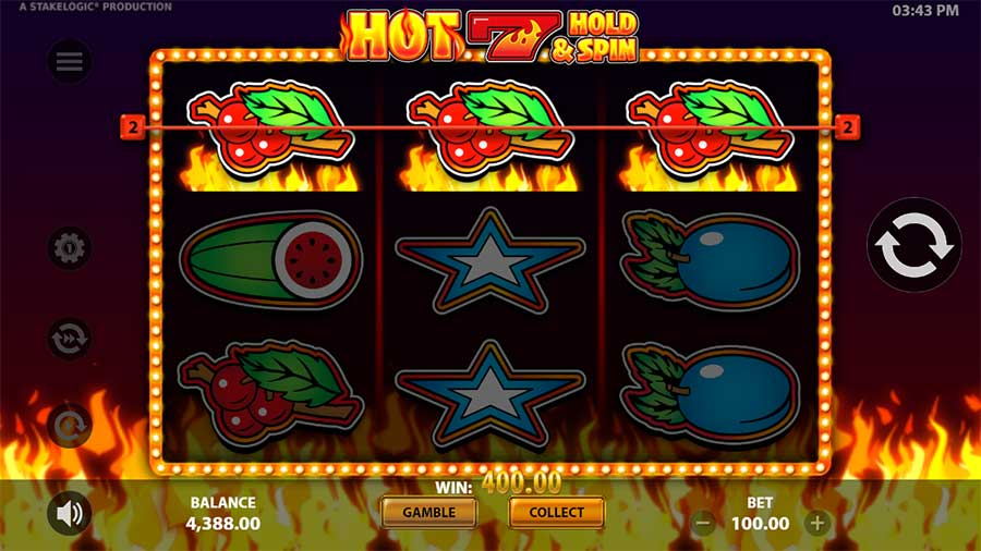 Hot 7 Hold and Spin Stakelogic