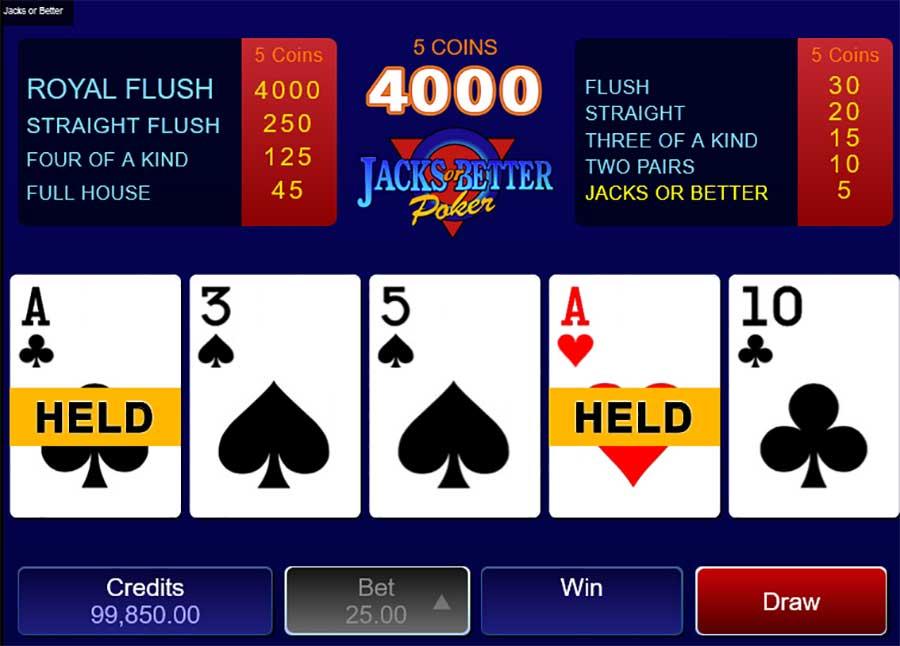 Jacks of Better video poker